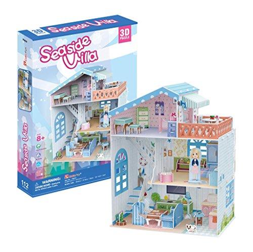 Cubicfun p683h - 3d puzzle la casa delle bambole la villa sul mare 4 stanze