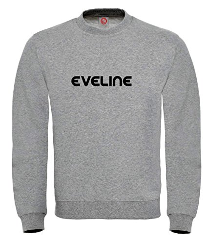 Felpa Eveline - Print Your Name Gray