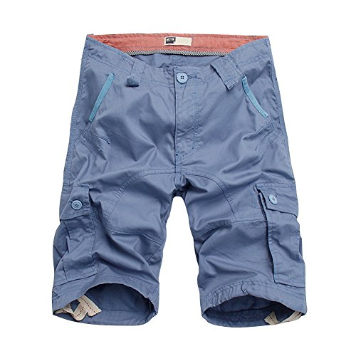 BicRad Herren Cargo Shorts Baumwolle Hellblau 44 (Herren-stretch-cargo-shorts)