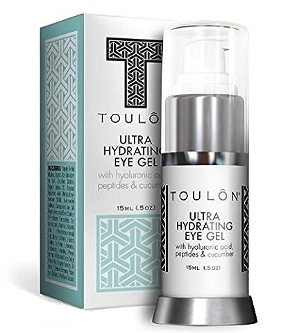 AugenGel - Augencreme reduziert Schwellungen, lässt dunkle Augenringe u. Mudigkeitserscheinungen verblassen, strafft Falten um die Augen, kühlt und erfrischt die Haut. Die beste Anti-Aging-Gel für Männer und Frauen. Naturprodukt aus Aloe Vera & Gurke.