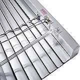 JalouCity Aluminium Jalousie inklusive Montagematerial / Silber 140 x 150 cm (BxH)