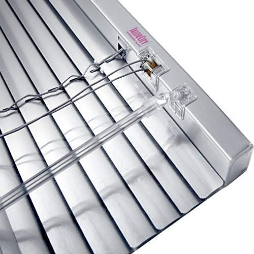 JalouCity Klemmfix Aluminium Jalousie ohne Bohren inkl. Jalou-Klicks / Silber 90 x 150 cm (BxH)