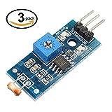 DollaTek 3Pcs Module numérique de capteur d'intensité Lumineuse Photo Résistor Photorésistance pour Arduino UNO