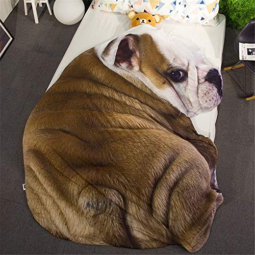 dc2a061e4c FEE Store Blanket-Shar Pei Dog Animal Series-Polyester-Modern-Soft Fluffy