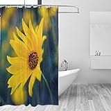 COOSUN Sunflower Drucken Duschvorhang, Polyester-Gewebe Badezimmer Duschvorhang, 66 x 72-inch 66x72 Mehrfarbig