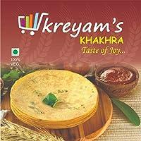 kreyam's khakhra in 4 Flavours (Chilli Garlic,Bajri Methi,Multi Grain,Plain)(480 Grams)