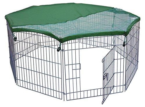 TrendLine Freigehege für Kleintiere 60x60 cm, 8 Teile Laufstall Freilauf Gehege