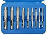SW-Stahl 95080L - Juego de sacabocados (9 piezas, 3-12 mm, en estuche)