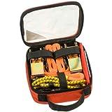 kwb Spanngurte-Set 983800 (in Transport-Tasche zur Ladungssicherung, inklusive 2 Gepäckspanner, 2 Ratschenspanngurte 2-teilig, 2 Zurrgurte, 1 Warnflagge)