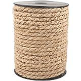 G2PLUS 6 MM dikke jute henneptouw, 18 M natuurlijke jute touw, ambachtelijke touw voor DIY kat krassen, tuinieren bundeling a