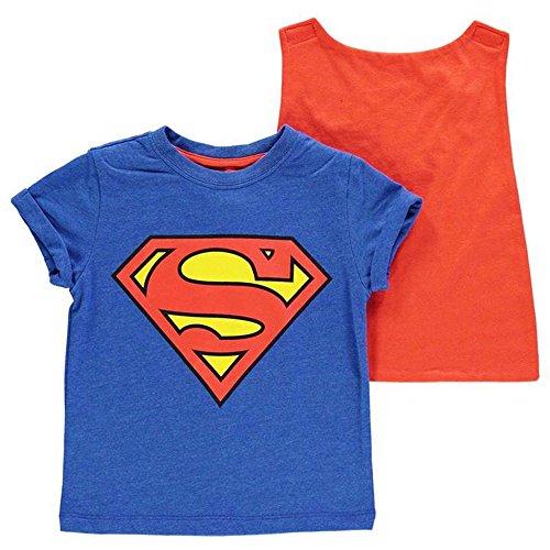 Character Jungen T-Shirt Gr. 7-8 Jahre, - Superman Cape T-shirt Mit
