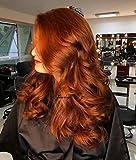Xiweiya Long Cheveux bouclés perruque Lace Front en cuivre rouge synthétique...