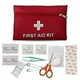 Erste-Hilfe-Set Reise Notfalltasche Wasserdicht Erste Hilfe Tasche18 Stück Mini Small First Aid Kit, Sport Verbandtasche Erste Hilfe Tasche für Haus, Fahrzeug, Reise, Büro, Arbeitsplatz, Kinderbetreuung, Wandern, Survival & Outdoor