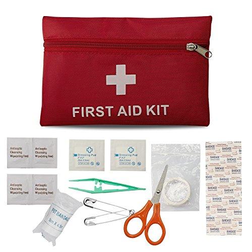Erste-Hilfe-Set Reise Notfalltasche Wasserdicht Erste Hilfe Tasche18 Stück Mini Small First Aid Kit, Sport Verbandtasche Erste Hilfe Tasche für Haus, Fahrzeug, Reise, Büro, Arbeitsplatz, Kinderbetreuu -