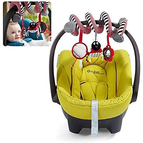 iDealhere Actividad de Cuna Espiral Bebé Colgando Decoración Juguete Peluche para Car / Pram /