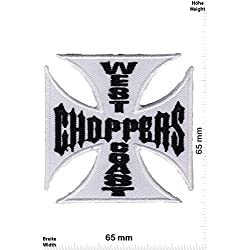 Parches - West Coast Choppers - White - Bikerpatch - Parche Termoadhesivos Bordado Apliques - Patch