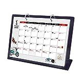 WWY 2020 Calendar - 12 Mensile perpetuo giornaliera a Fogli mobili Acrilico Calendario Staffa Calendario con autoportanti Cavalletto (Colore : Nero)