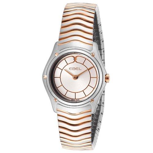 Ebel 1256F25-16325 - Reloj para mujeres, correa de acero inoxidable color plateado