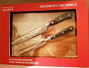 ACACIA BOARD WITH 2-PIECE CARVING SET