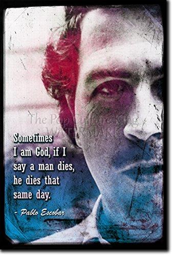 Pablo Escobar forografía en afiche o póster Lámina artística y original para regalo 30x20 cm