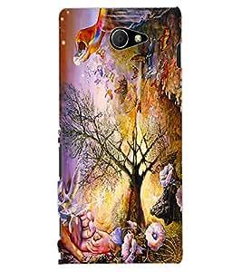 ColourCraft Creative Art Design Back Case Cover for SONY XPERIA M2