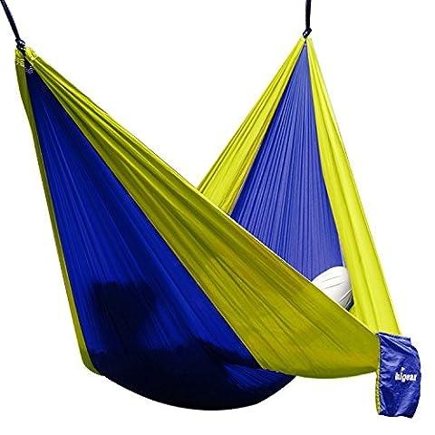 Hängematte Camping Hammock Single/Double Parachute, leicht und tragbar, mit extra