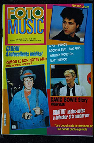 FOTO MUSIC 03 1986 A-HA PRINCE BRONSKI BEAT TAXI GIRL WHITNEY HOUSTON MATT BIANCO + POSTER GEANT DAVID BOWIE