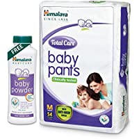 Himalaya Total Care Baby Pants (Medium, 54 Count) with Baby Powder, 400g