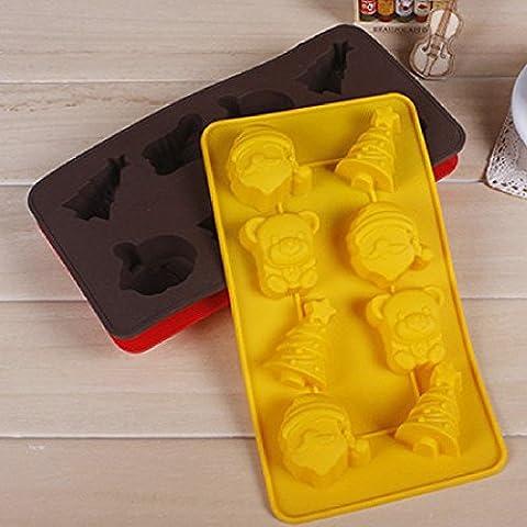 Série de Noël Arbre de Noël gâteau en silicone Cookie Cutter moule Outils aléatoire Home