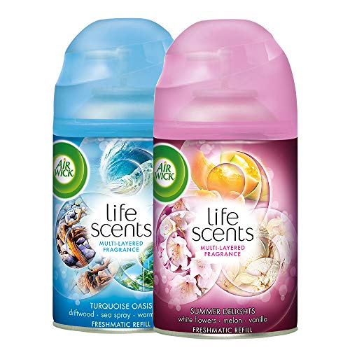 Airwick Freshmatic Refill Life Scents Summer Delights - 250 ml and Airwick Freshmatic Refill Life Scents Turquoise Oasis - 250 ml