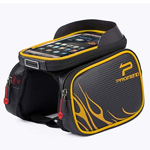 LHLCG 6,2 '' Fahrradträger Paket Wasserdichte Touchscreen Handytasche Reitausrüstung,Yellow