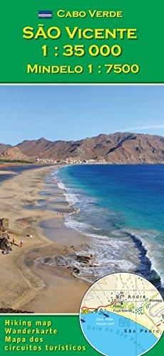 So Vicente (Cabo Verde) 1 : 35000, Mindelo 1 : 7500 (Carte de randonne et de loisirs du Cap-Vert)
