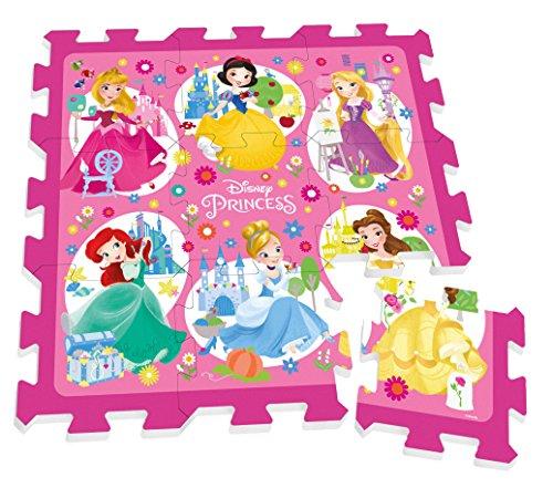 -Puzzle de Sol-Teppich Schaumstoff-9-teilig-88x 88cm-Disney Princess-Rucksack für Transport ()