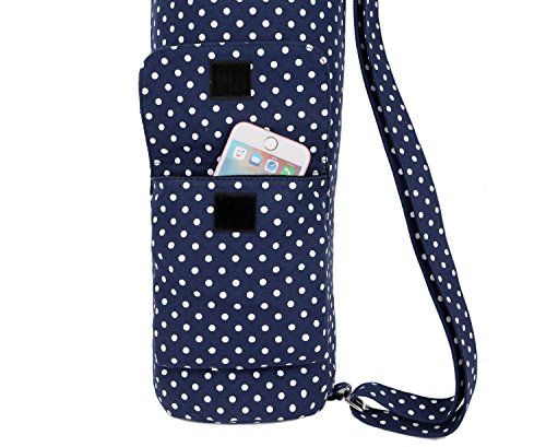 BAOSHA YG-28 Yoga Mat Bag Segeltuch Yogatasche Durchgehende Reißverschluss Tragetasche für Yoga, Pilates, Fitness und Gymnastikmatten mit...