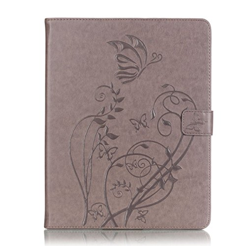 Cozy Hut Slim Printing Graphic Design Muster PU Lederhülle Case Cover Etui Schutz Hülle Tasche für Apple iPad 2,3,4 -grau
