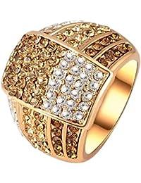 Yiwu Crystal BROWN,WHITE,GOLD 18K ROSE GOLD METAL RING Fashion Jewellery For WOMEN