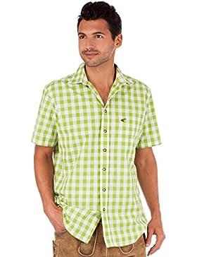 orbis Textil OS-Trachten Trachtenhemd 921000-3052 Karo Halbarm Apfel