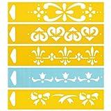 17cm x 4cm Flexibel Kunststoff Universal Schablone - Textil Kuchen