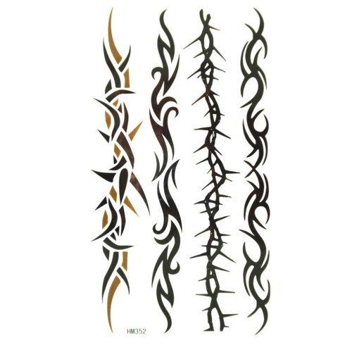 King Horse étanche et à la sueur de la vignette d'imagerie vigne tatouage quatre modèle pour les hommes et les femmes