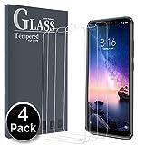 Ferilinso für Xiaomi Redmi Note 6 Pro Panzerglas Schutzfolie, [4 Pack] Gehärtetes Glas Displayschutzfolie mit Lebenszeit Ersatzgarantie(Transparent)