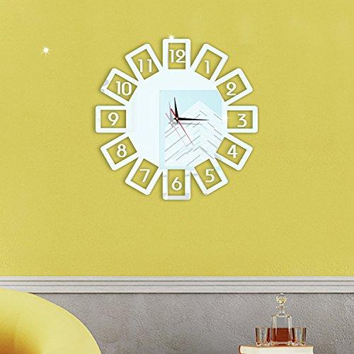 Crystal Noria rueda digital reloj pared impermeable