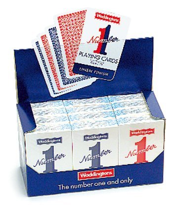 New Waddington Playing Cards 52 Card Indoor Family Games Deck 12 Packs