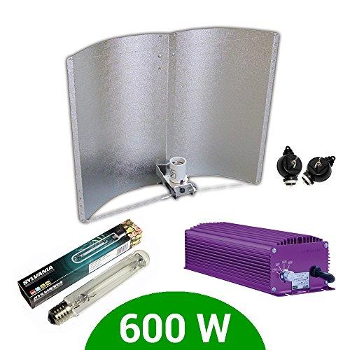 Kit d'éclairage électronique Dimmable Lumatek 600 W + Agrolite SHP + réflecteur Adjust-a-Wings Enforcer