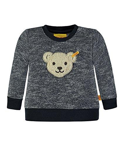 Steiff Collection Jungen Sweatshirt 1/1 Arm 6833463, Blau (Marine 3032), 68 - Strukturierte Baumwolle Shirt