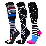 Calcetines de compresión para mujeres y hombres, los mejores médicos, para correr, enfermería, circulación y recuperación, senderismo, viajes y vuelo, 20-25 mmHg