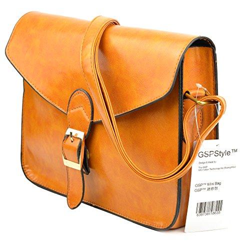 GSPStyle002112-P - Borsa a tracolla Donna Arancione (Gelbbraun)