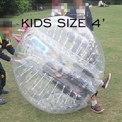 amazingsportstm burbuja bola de fútbol traje para niños barato 4pies 1.2m transparente PVC