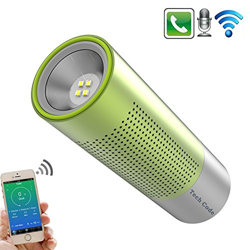 Wireless Bluetooth Speaker, TechCode Portable V3.0 Stereo Speaker with High-Definition Sound Quality & Superior bass, Mini Rechargeable Flashlight Torch Bluetooth Speaker with Flashlight Function,Handsfree for Calls for iPhone, iPod, iPad, Samsung, Echo, LG and others (Grün)