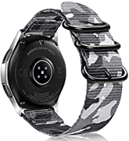 Bands for Galaxy Watch 46mm / Gear S3, Fintie Soft Woven Nylon 22mm Band Adjustable Replacement Sport Strap wi