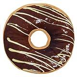 Jecxep, soffice cuscino con micro sfere a forma di ciambella Milk chocolate